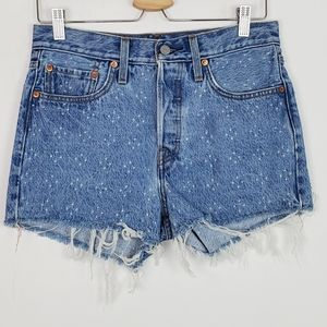 Levi's 501 Distressed High Rise Shorts Size 29